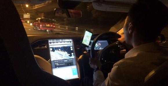 Uber Tesla HK